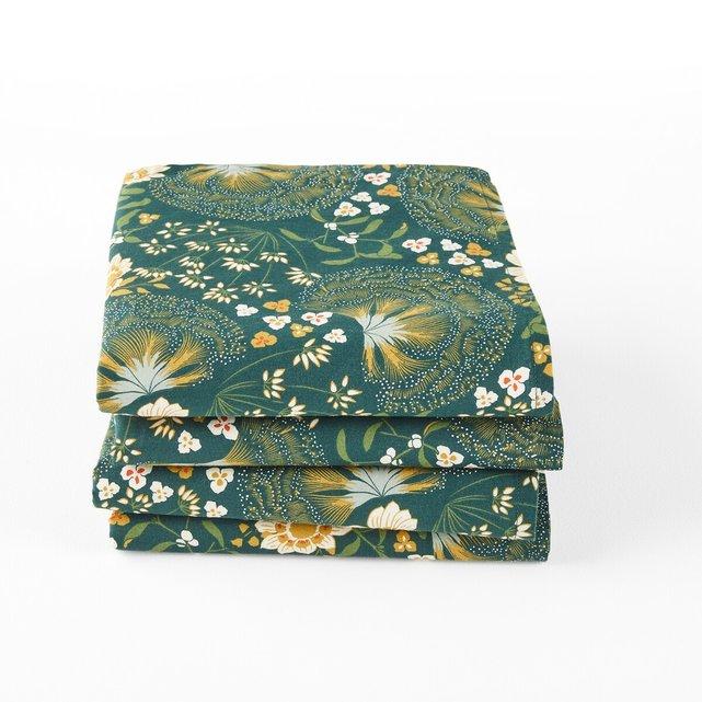 Σετ 4 πετσέτες φαγητού από προπλυμένο βαμβάκι, Aster