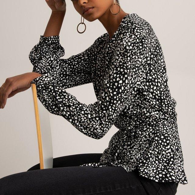 Μακρυμάνικη κρουαζέ μπλούζα