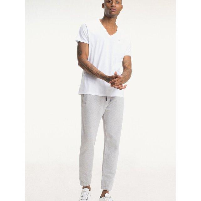 Κοντομάνικη ζέρσεϊ μπλούζα με V, Originals