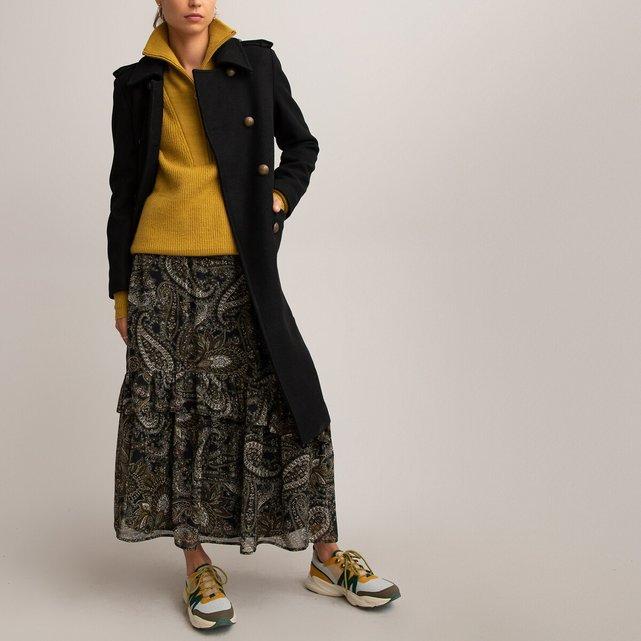 Φούστα με βολάν και μοτίβο λαχούρια