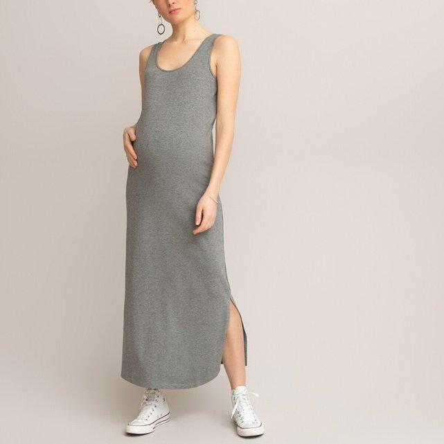 Αμάνικο μακρύ φόρεμα εγκυμοσύνης