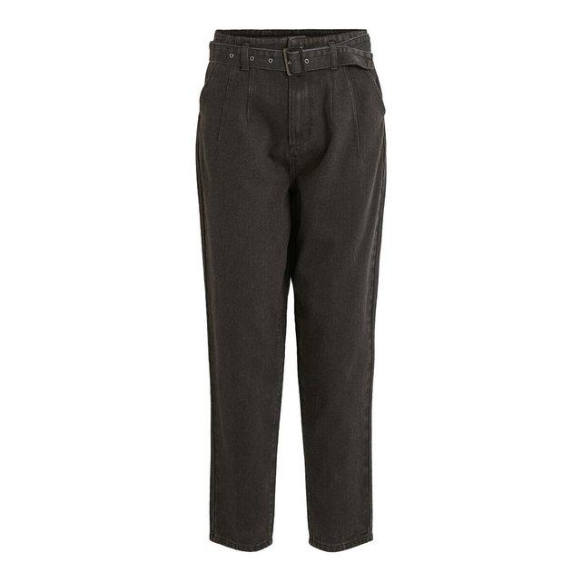 Φαρδύ ψηλόμεσο παντελόνι 3|4 με ζώνη