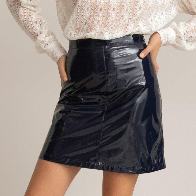 Κοντή φούστα από βινύλιο