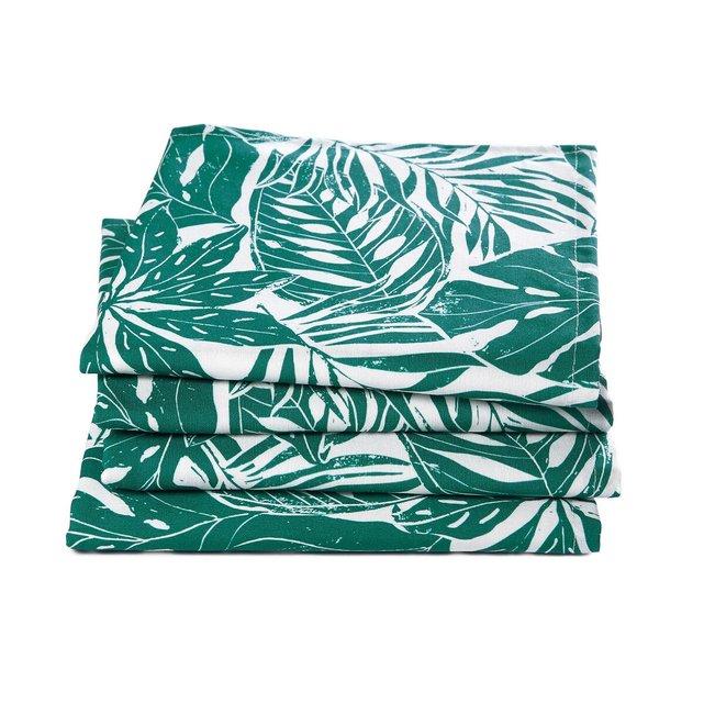 Σετ 4 πετσέτες φαγητού, Ficus