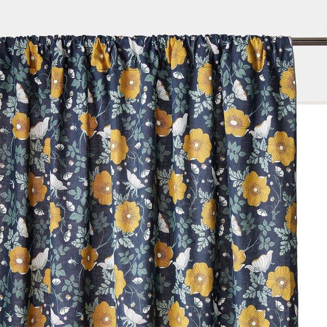 Κουρτίνα από προπλυμένο ύφασμα με κρυφές θηλιές, Marthe