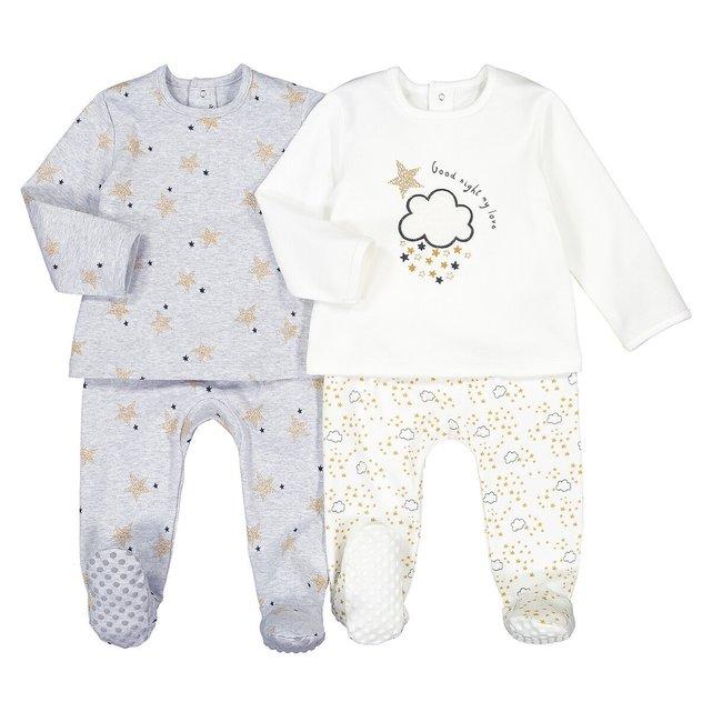 Σετ 2 πιτζάμες από βιολογικό βαμβάκι, 0 - 3 ετών