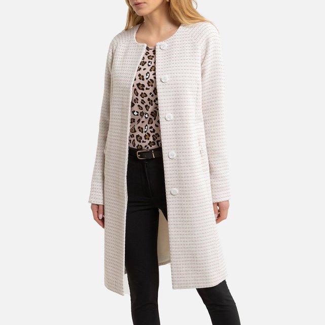Μίντι ζακάρ παλτό με κουμπιά