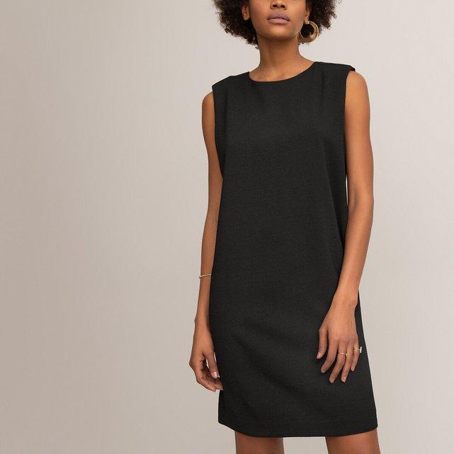 Αμάνικο φόρεμα με στρογγυλή λαιμόκοψη