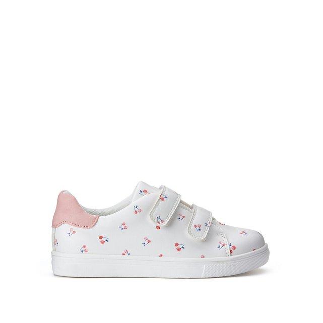 Αθλητικά παπούτσια με βέλκρο και μοτίβο κεράσια, 26-39