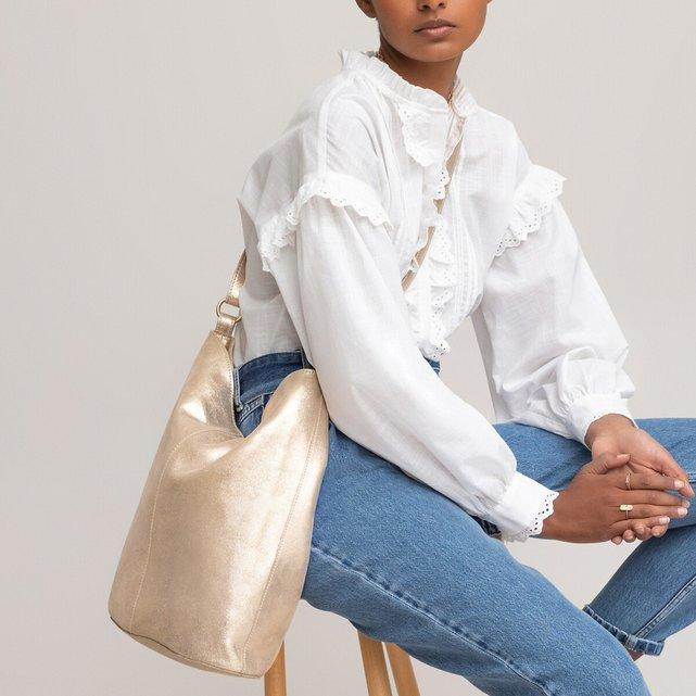 Δερμάτινη τσάντα-πουγκί