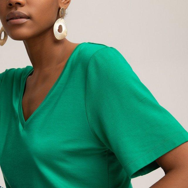 Μπλούζα με V λαιμόκοψη από lyocell