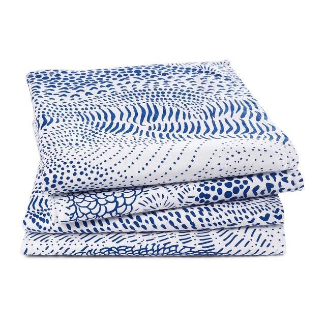 Σετ 4 πετσέτες φαγητού από προπλυμένο βαμβάκι, Sealand