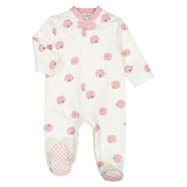 Ολόσωμη φόρμα ύπνου με πουά, 1 μηνός - 3 ετών