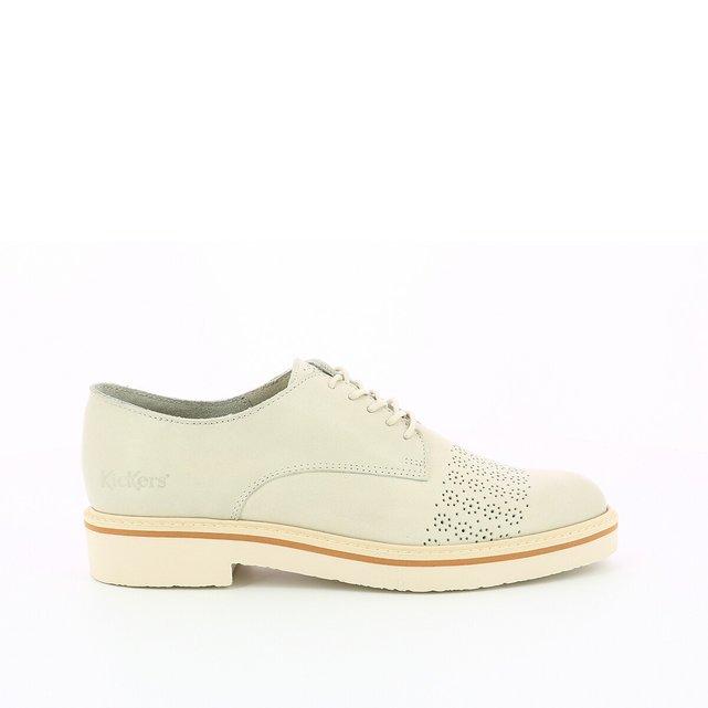 Δερμάτινα παπούτσια με διάτρητο μοτίβο, Oxford