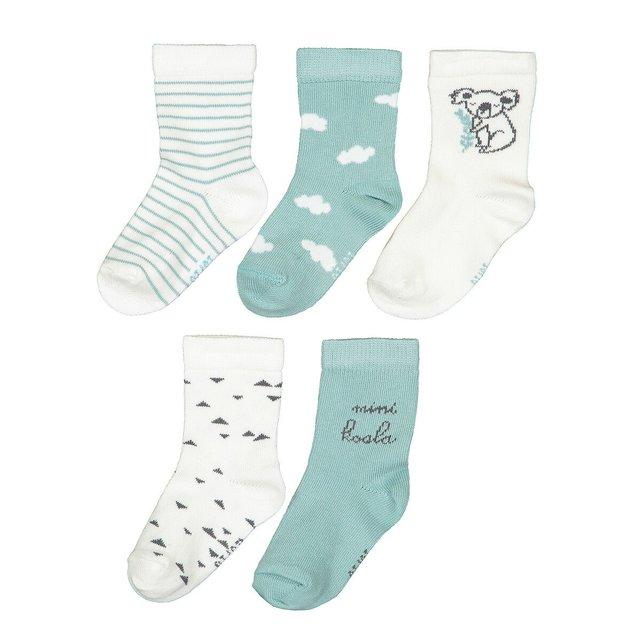 Σετ 5 ζευγάρια κάλτσες από βιολογικό βαμβάκι, 15|18 - 23|26