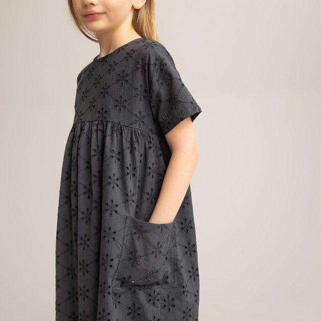 Φόρεμα με κοφτό κέντημα, 3-12 ετών