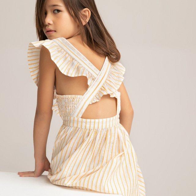 Αμάνικο φόρεμα με βολάν, 3-14 ετών