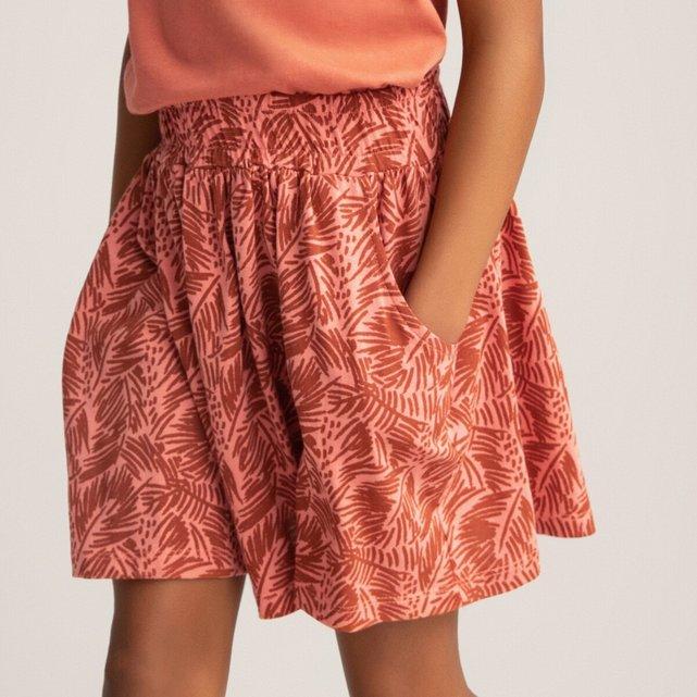 Κοντή εμπριμέ φούστα από βιολογικό βαμβάκι, 3-12 ετών
