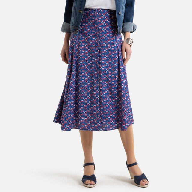 Εβαζέ μίντι φούστα με φλοράλ μοτίβο
