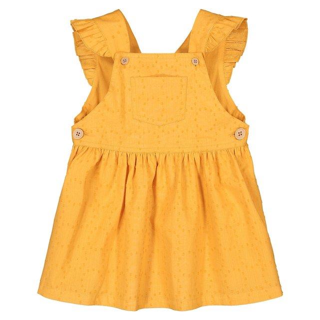 Φόρεμα με κέντημα και βολάν, 3 μηνών - 4 ετών
