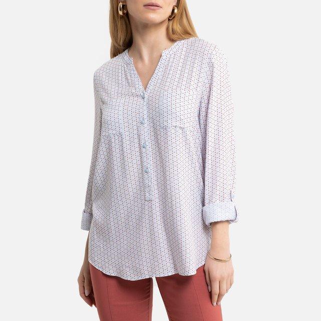 Μακρυμάνικη μπλούζα με γεωμετρικό μοτίβο
