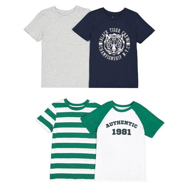 Σετ 4 μπλουζάκια, 3-12 ετών