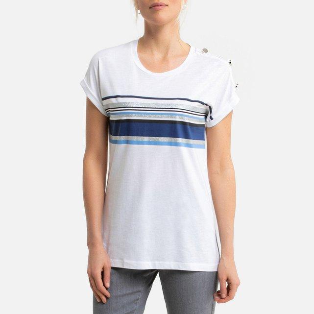 Κοντομάνικη μπλούζα από βαμβάκι & μοντάλ