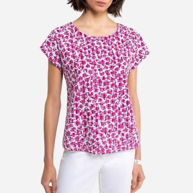 Φλοράλ μπλούζα με κοφτό κέντημα