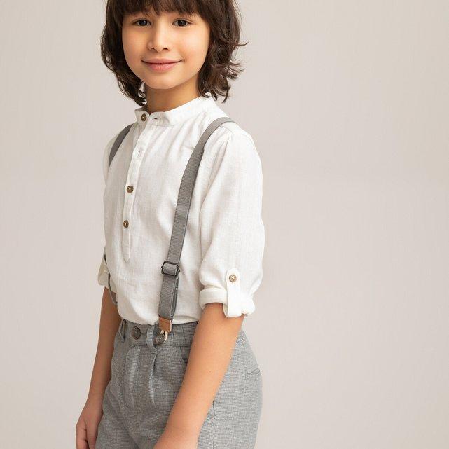 Μακρυμάνικο πουκάμισο με μάο γιακά, 3-12 ετών