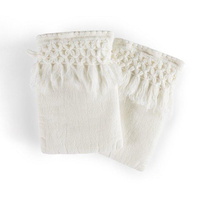 Σετ 2 γάντια μπάνιου από οργανικό βαμβάκι λινό, Kiramy