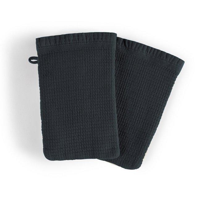 Σετ 2 γάντια μπάνιου από οργανικό βαμβάκι λινό, Nipaly
