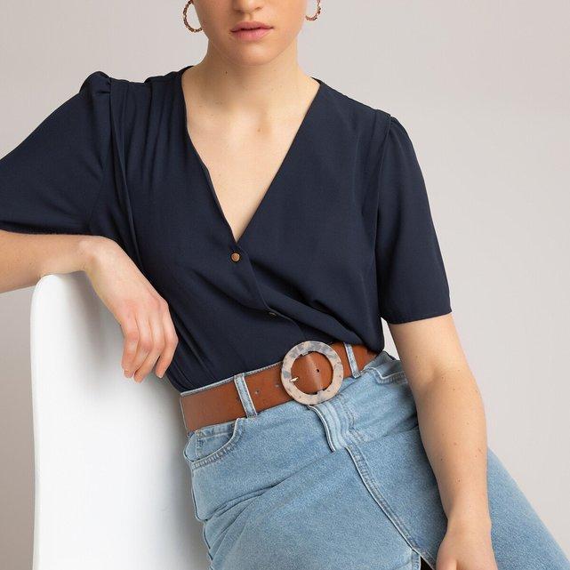 Κοντομάνικο πουκάμισο με V