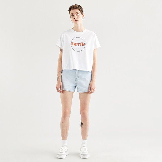 Κοντομάνικη μπλούζα με λογότυπο μπροστά