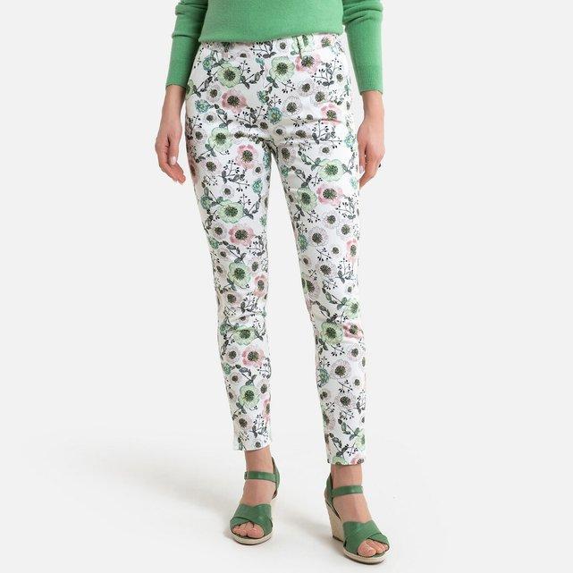 Slim παντελόνι με φλοράλ μοτίβο