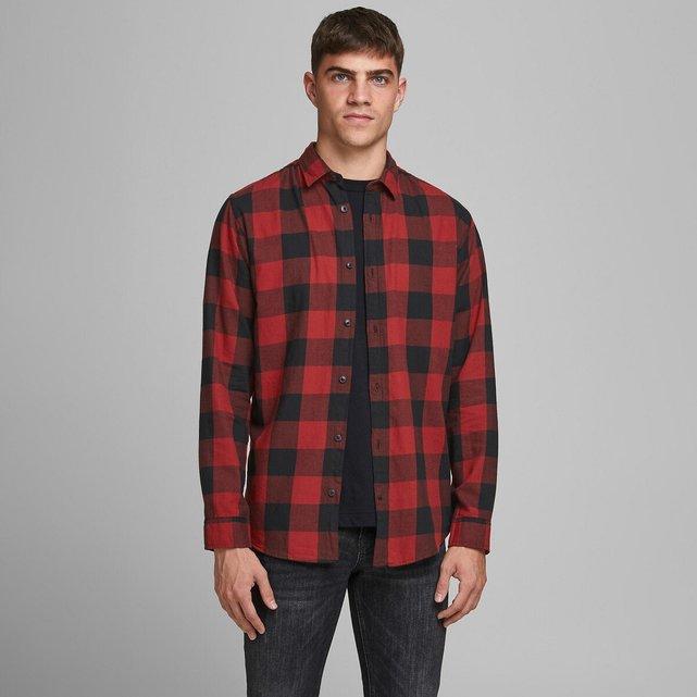 Καρό slim πουκάμισο, Gingham Twill
