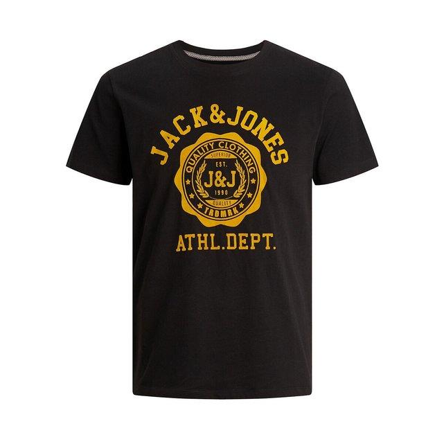 Κοντομάνικο T-shirt με στρογγυλή λαιμόκοψη, Flock