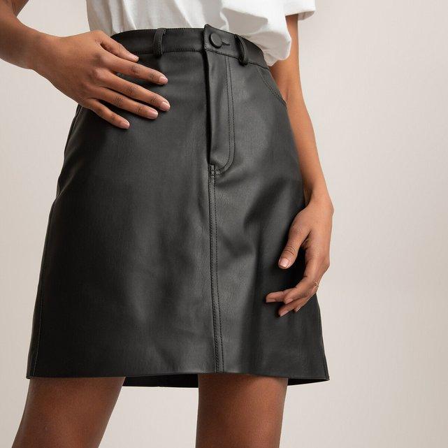Κοντή φούστα από συνθετικό δέρμα