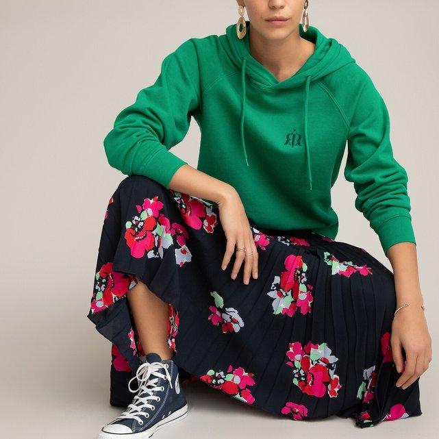 Μίντι πλισέ φούστα με φλοράλ μοτίβο
