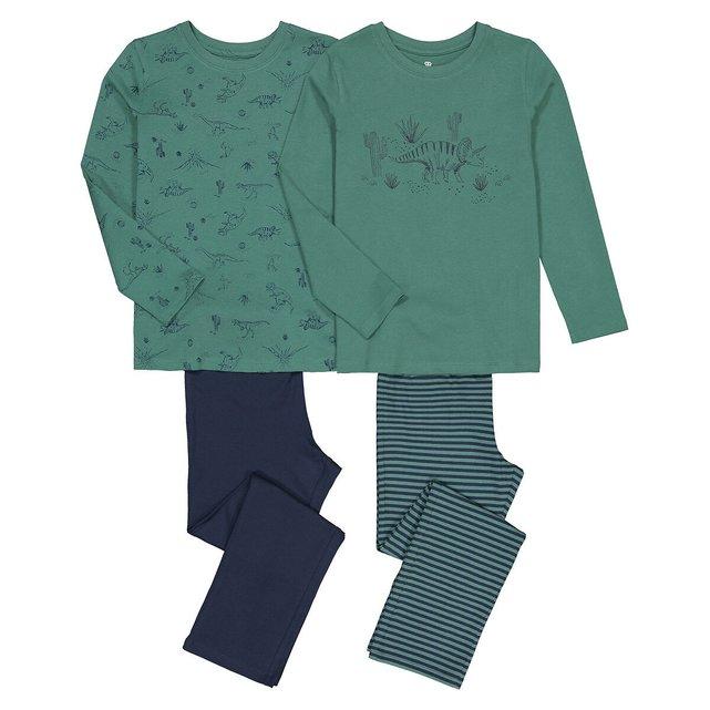 Σετ 2 πιτζάμες από οργανικό βαμβάκι, 3-12 ετών