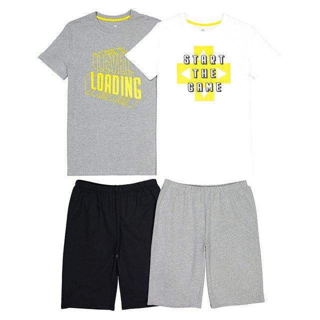Σετ 2 πιτζάμες με σορτς από οργανικό βαμβάκι, 10-18 ετών