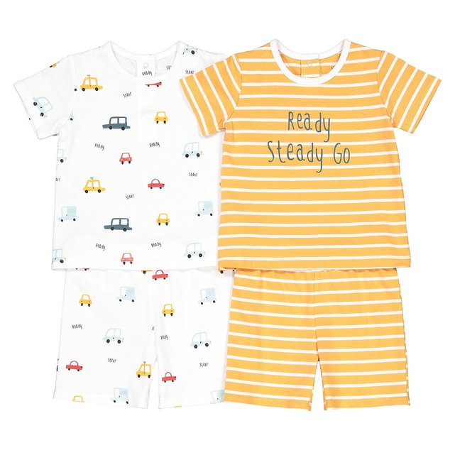 Σετ 2 πιτζάμες από οργανικό βαμβάκι, 3 μηνών - 4 ετών