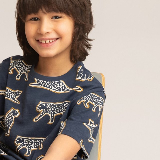 T-shirt με στρογγυλή λαιμόκοψη, 3-12 ετών