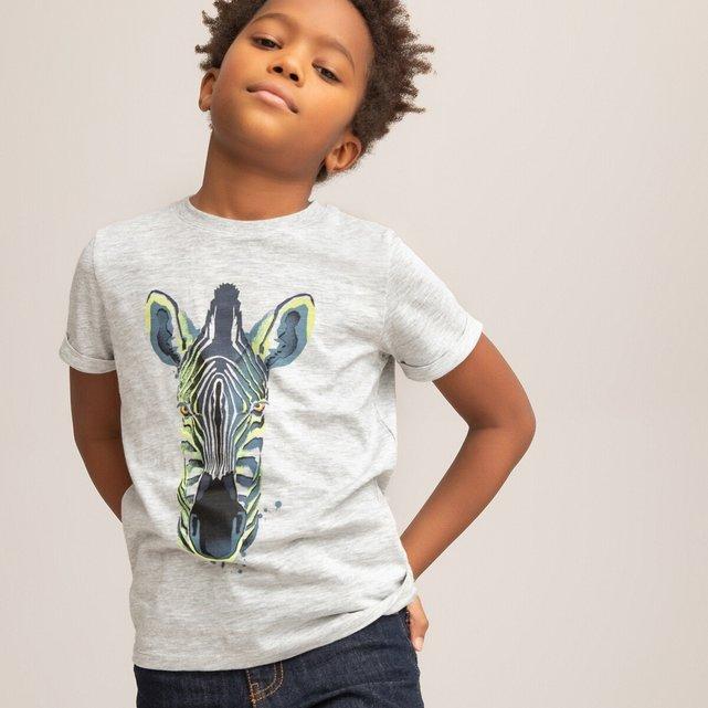 Κοντομάνικο T-shirt με μοτίβο κεφάλι ζέβρας, 3-12 ετών