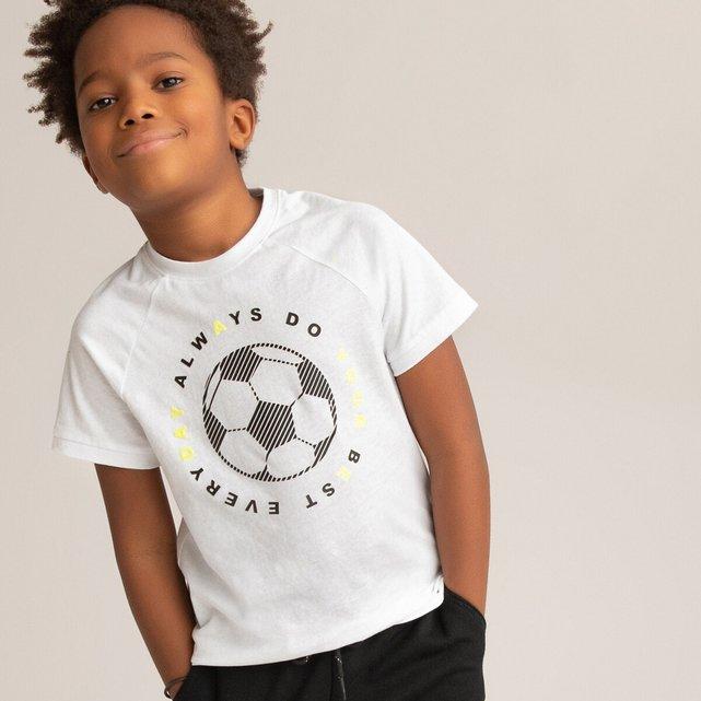 T-shirt με στάμπα μπάλα μπροστά, 3-14 ετών