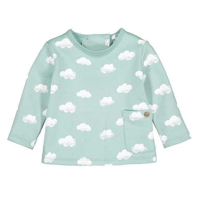 Φούτερ από φανέλα με μοτίβο σύννεφα, 0 - 2 ετών