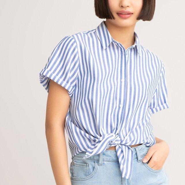 Ριγέ πουκάμισο από βιολογικό βαμβάκι, 10 - 18 ετών