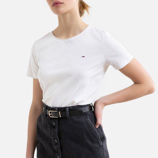 Κοντομάνικο T-shirt με λογότυπο μπροστά