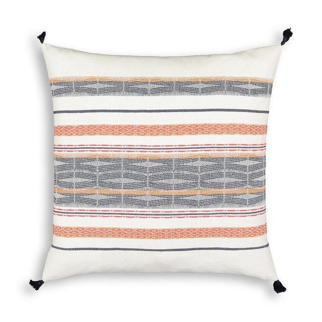 Βαμβακερή θήκη για μαξιλάρι με ζακάρ ύφανση, Izama