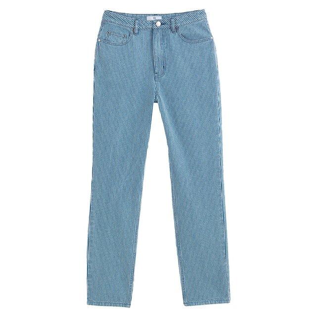 Παντελόνι mom fit από χοντρό βαμβακερό ύφασμα