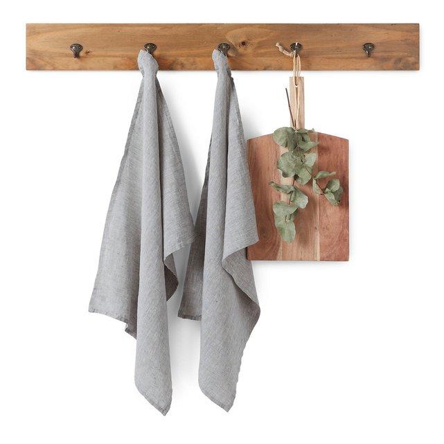 Σετ 2 πετσέτες κουζίνας από προπλυμένο λινό, Victorine